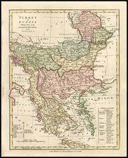 Europe, Balkans, Turkey, Mediterranean and Greece Map By Robert Wilkinson