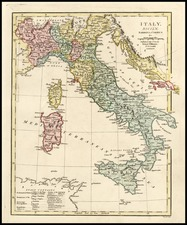 Europe, Italy and Balearic Islands Map By Robert Wilkinson
