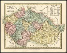 Europe, Poland, Romania and Czech Republic & Slovakia Map By Robert Wilkinson