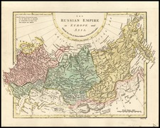 Europe, Poland, Russia, Asia, Central Asia & Caucasus and Russia in Asia Map By Robert Wilkinson