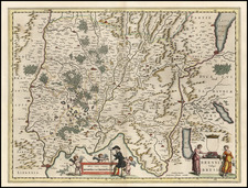Europe, Switzerland and France Map By Willem Janszoon Blaeu