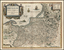 Europe, Germany, Poland and Baltic Countries Map By Willem Janszoon Blaeu