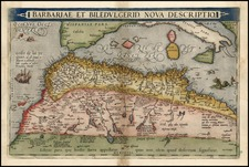 Europe, Mediterranean, Africa, North Africa and Balearic Islands Map By Abraham Ortelius