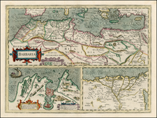 North Africa Map By Henricus Hondius