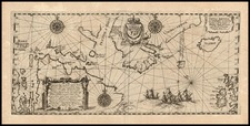 World, Polar Maps, Atlantic Ocean and Canada Map By Theodor De Bry