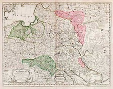 Europe and Poland Map By Jean André Dezauche