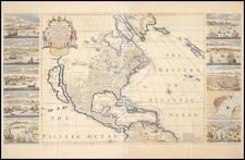 United States and North America Map By Henry Overton