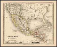 Texas, Southwest, Rocky Mountains and California Map By Thomas Milner