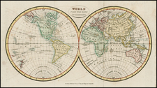 World and World Map By Thomas Tegg