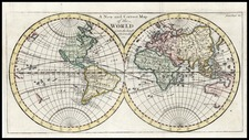 World and World Map By John Senex