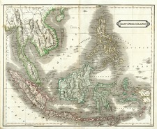 Asia, Southeast Asia and Philippines Map By Daniel Lizars