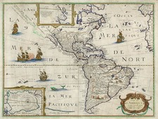 South America and America Map By Petrus Bertius