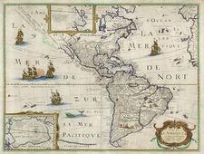 South America and America Map By Petrus Bertius
