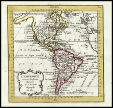 South America and America Map By Jean-Baptiste Nolin