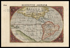 World, Western Hemisphere, North America, South America and America Map By Cornelis Claesz