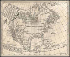 North America and California Map By Henry Briggs