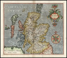 Scotland Map By William Hole