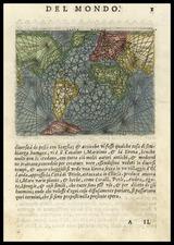World and World Map By Abraham Ortelius / Pietro Marchetti