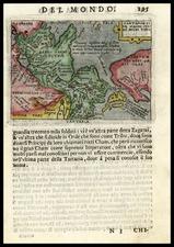 Asia, China, Japan and California Map By Abraham Ortelius / Pietro Marchetti