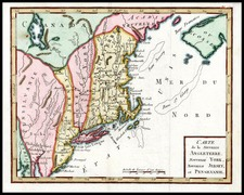 New England and Mid-Atlantic Map By Anonymous