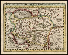 Asia, Central Asia & Caucasus and Middle East Map By Matthias Quad / Johann Bussemachaer