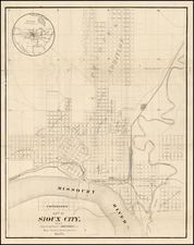 Plains and Iowa Map By Sioux City Engraving Company