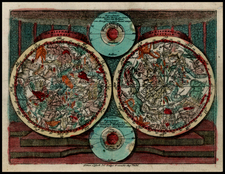 World, Celestial Maps and Curiosities Map By Tobias Conrad Lotter / Tobias Lobeck
