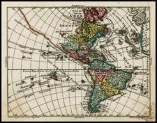 South America and America Map By Tobias Conrad Lotter / Tobias Lobeck