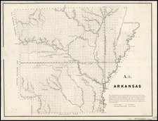 Arkansas Map By C.B. Graham