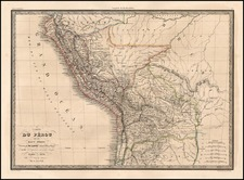 South America Map By Alexandre Emile Lapie