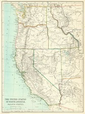 Rocky Mountains and California Map By Blackie & Son