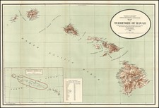 Hawaii, Australia & Oceania and Hawaii Map By U.S. General Land Office