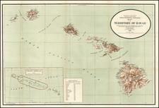 Hawaii, Australia & Oceania and Hawaii Map By U.S. General Land Office