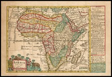 Africa and Africa Map By Johann George Schreiber