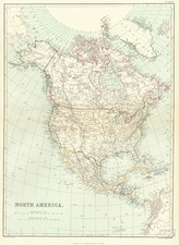 North America Map By Blackie & Son