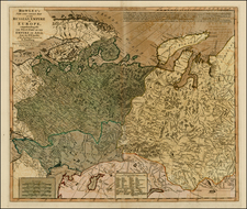 Russia, Ukraine, Central Asia & Caucasus and Russia in Asia Map By Carington Bowles