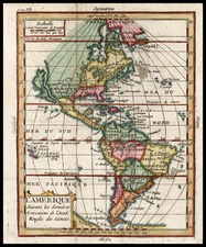 South America and America Map By Claude Buffier