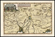 China, India and Central Asia & Caucasus Map By Pieter van der Aa