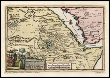 Middle East and North Africa Map By Pieter van der Aa