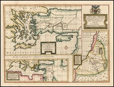 Europe, Mediterranean, Balearic Islands, Asia, Holy Land and Turkey & Asia Minor Map By Edward Wells
