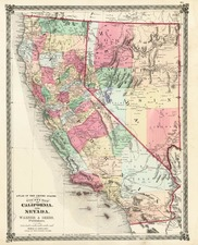 California Map By H.H. Lloyd