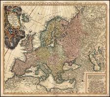 Europe and Europe Map By Johann Matthaus Haas