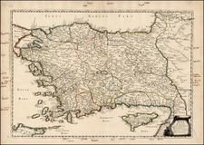 Europe, Turkey, Balearic Islands, Asia and Turkey & Asia Minor Map By Philippe de la Rue