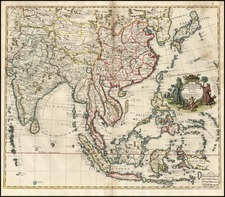 Asia, China, Japan, India and Southeast Asia Map By John Senex