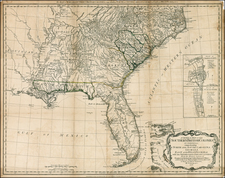 Mid-Atlantic, Florida, South and Southeast Map By Robert Sayer  &  John Bennett