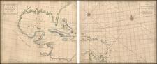 World, Atlantic Ocean, South, Southeast, Mexico, Caribbean and Central America Map By John Senex / Edmund Halley / Nathaniel Cutler / Samuel Parker