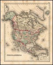 North America Map By O.W. Gray