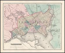 Washington, D.C. Map By O.W. Gray