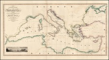 Europe, Europe, Mediterranean, Balearic Islands, Asia and Turkey & Asia Minor Map By William Faden