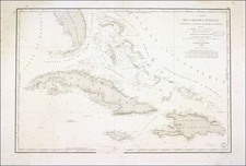 Southeast and Caribbean Map By Depot de la Marine